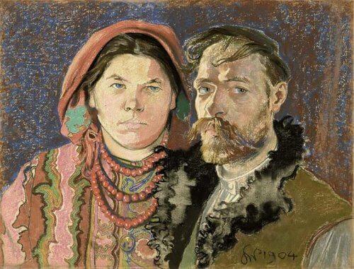 portret z żoną