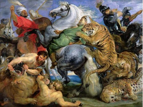 obraz polowanie na tygrysa