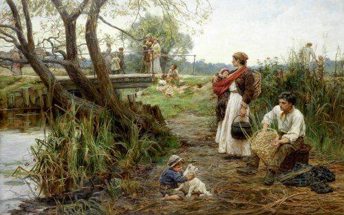 obraz nad rzeka