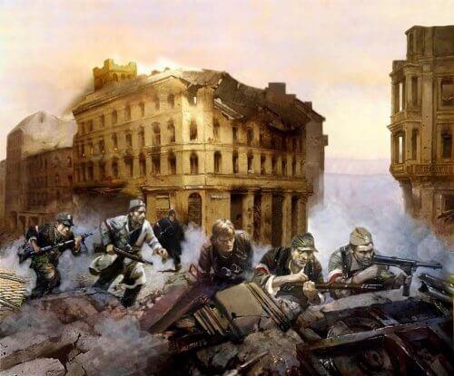 obraz powstanie warszawskie