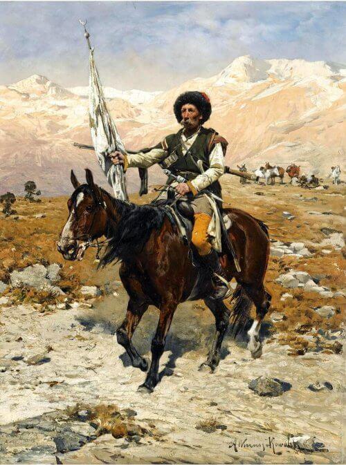 obraz kaukazki wódż