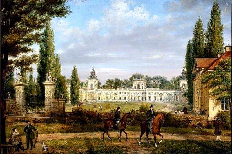 obraz widok pałacu w Wialnowie