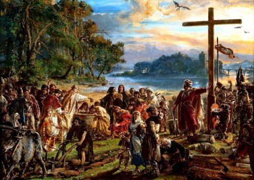 obraz zaprowadzenie chrzescijanstwa