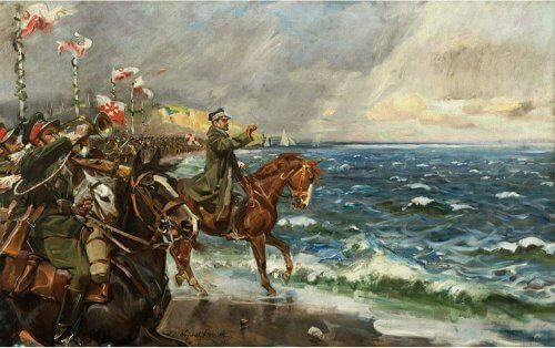 Obraz zaslubiny Polski z Bałtykiem