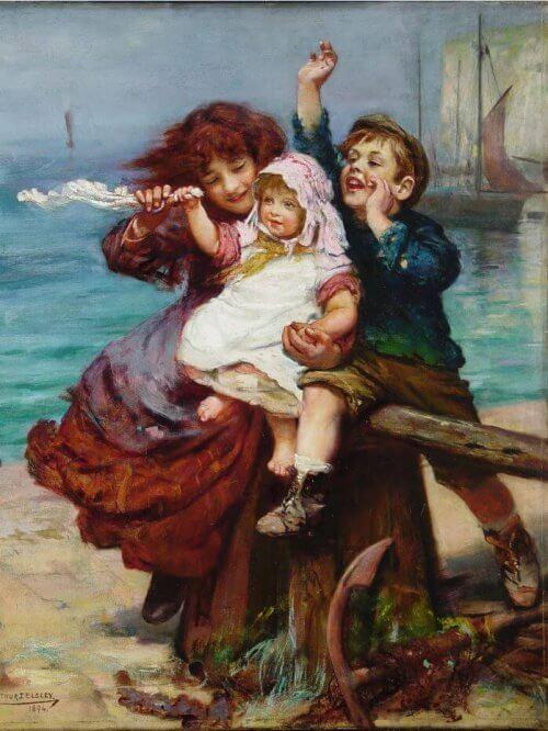 Obraz dzieci Esley