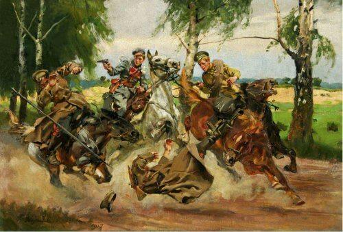 Obraz potyczka z Kozakami