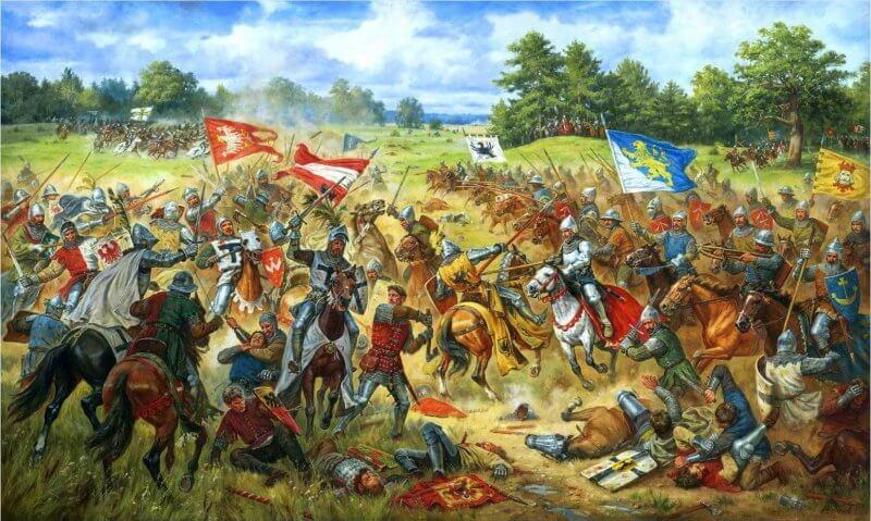obraz Chorągiew Lwowska w bitwie pod Grunwaldem Artur Orlonow