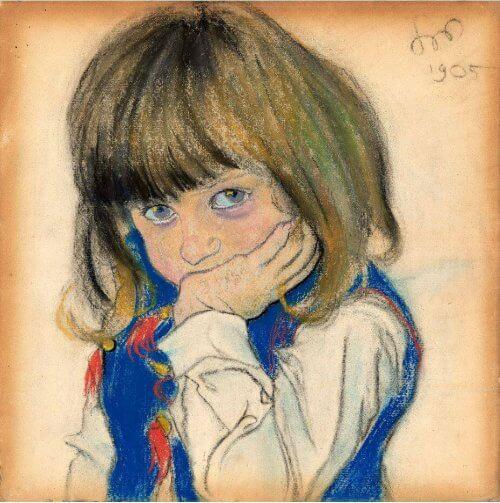 obraz_Portret Chłopca_Wyspiański